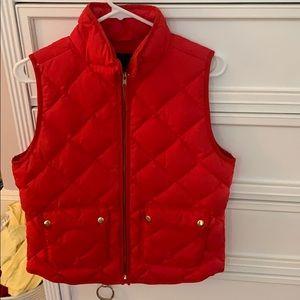Orange J Crew vest